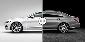 Volvo S90 vs. Mercedes E-Class Side