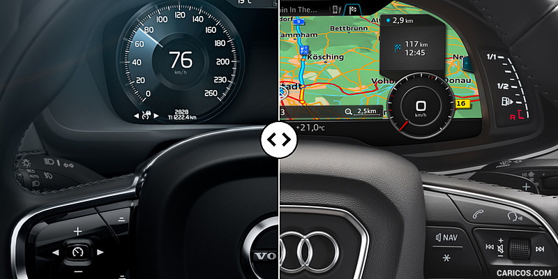 Volvo XC90 vs. Audi Q7 : Digital Instrument Panel