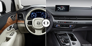 Volvo XC90 vs. Audi Q7 : Interior