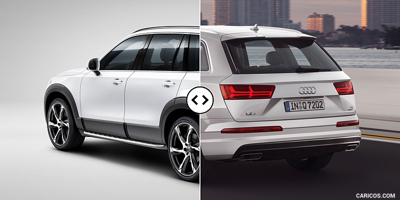 Volvo XC90 vs. Audi Q7 : Rear Three Quarter