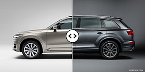 Volvo XC90 vs. Audi Q7 : Side