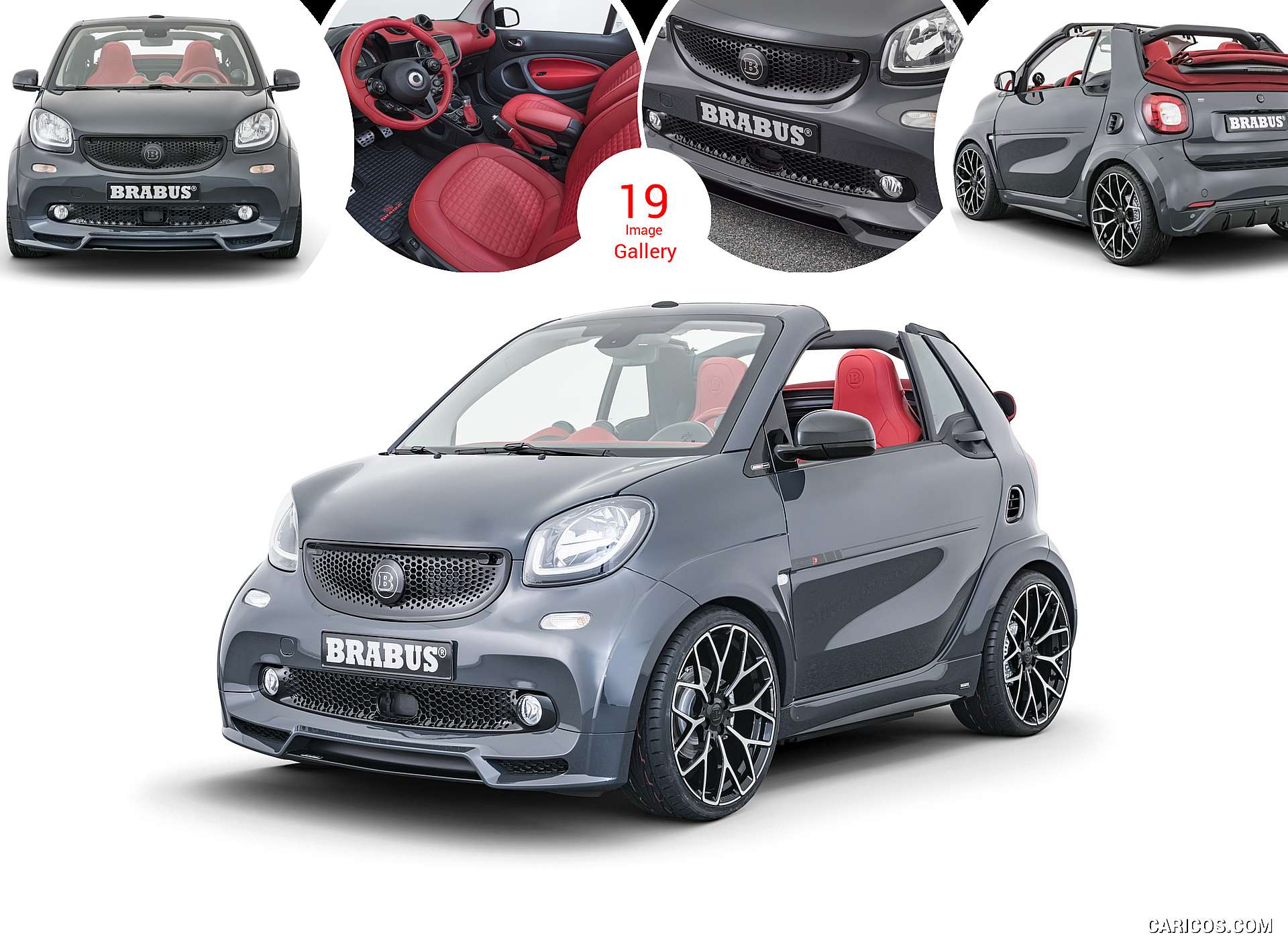 2019 BRABUS Ultimate E Shadow Edition 1 of 28 based on smart EQ fortwo cabrio