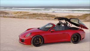 Overview: 2018 Porsche 911 Targa 4 GTS (Carmine Red)