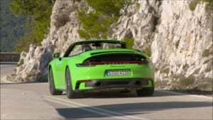 Overview: 2020 Porsche 911 Carrera 4S Cabrio (Lizard Green)